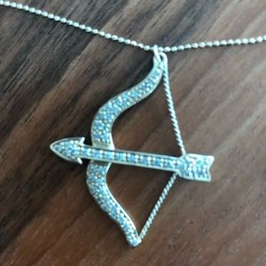 Jewelry - LOVE CUPID BOW AND ARROW 14K DIAMOND NECKLACE
